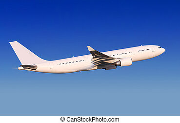passenger aircraft is landing
