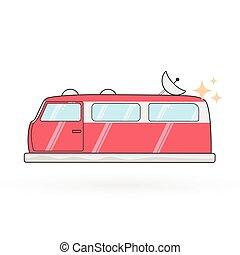 Vector hovercraft van illustration