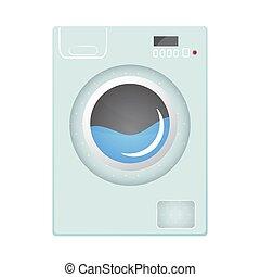 Washing machine Flat style vector illustration.