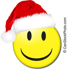 Smile with santa hat