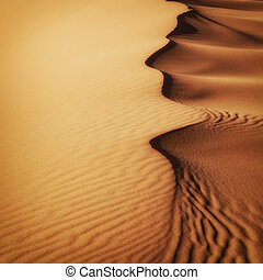 Sand Dunes Morocco desert - Sand dunes at sunset in the...