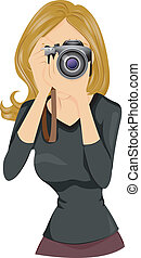 Photographer - A Woman Photographer holding a Camera