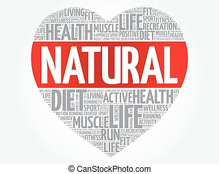 NATURAL heart word cloud