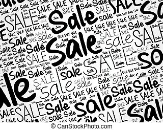 SALE word cloud collage background, business concept