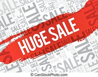 HUGE SALE words cloud