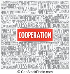 COOPERATION word cloud, business concept