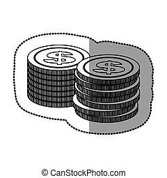 coin icon stock image, vector illustration design