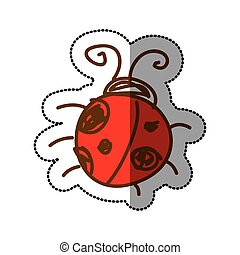 ladybug icon stock image, vector illustration design