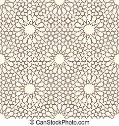 Geometric arabic seamless pattern. Abstract islamic vector...