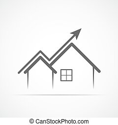 Abstract home icon. Vector illustration.