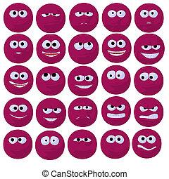 Cute Pink Emoticon Art Illustration