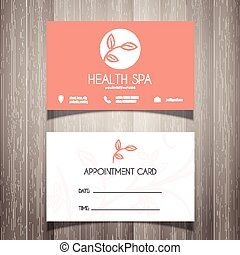Health Spa or beautician business card / appointment card