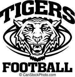 tigers football mascot team design for school, college or...
