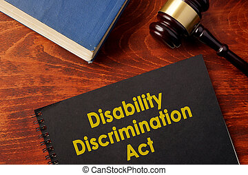 Disability Discrimination Act (DDA). - Book with title...