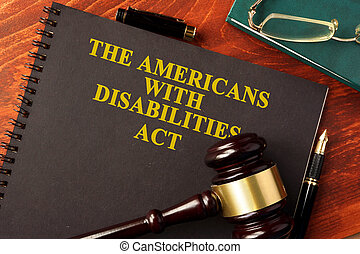The Americans with Disabilities Act (ADA). - Book with title...