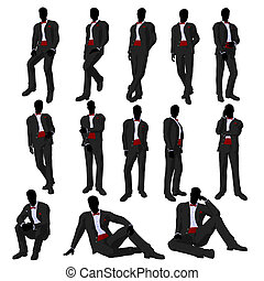 Wedding Groom in a Tuxedo Silhouette - Wedding groom in a...