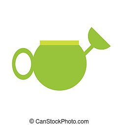 green water can tool gardening vector illustration eps 10