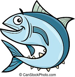 tuna fish cartoon character - Cartoon Illustration of Tuna...