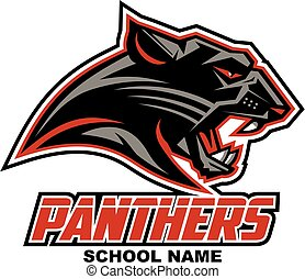 panthers mascot head team design for school, college or...