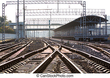 Perspective of the railway junction