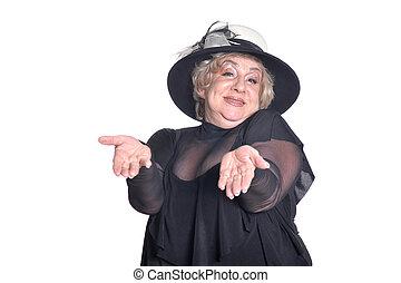 Senior woman in blouse