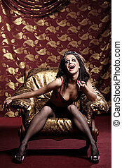 The glamour hysteric woman