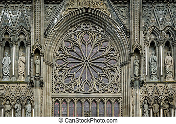 Nidarosdomen cathedral in Trondheim, Norway. - Nidaros...