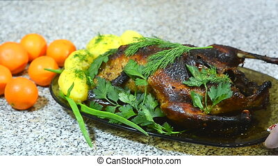 roasted duck