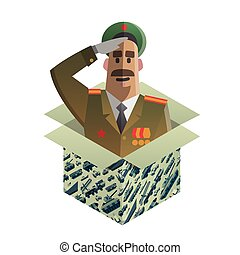Isometric gift for day of defenders of fatherland. - Gift...