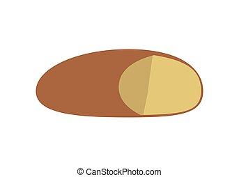 Loaf of Bread Vector Illustration in Flat Design