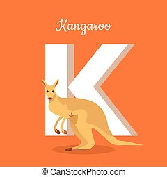 Animals Alphabet. Letter - K