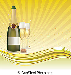 champagne background - champagne, celebration background