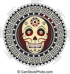 Sugar skull tattoo design - Tribal ornament with sugar skull...