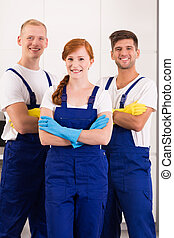Cleaners in work wear - Professional and confident cleaners...