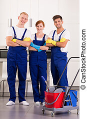 Team of professional cleaners