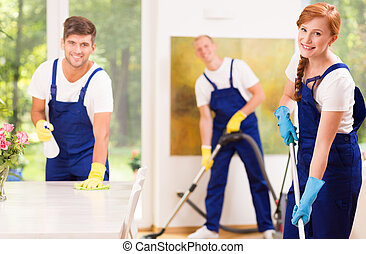 Cleaners with equipment