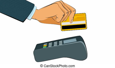 Buyer pays card - Vector illustration of a buyer pays card