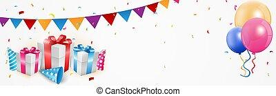 Birthday celebration banner - illustration of Birthday...