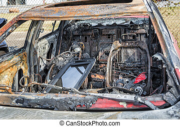 Interior of Automobile After Car Fire