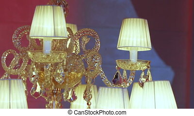 Expensive crystal chandelier
