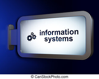 Information concept: Information Systems and Gears on...