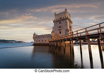 Belem Tower on the Tagus River. - Belem Tower on the Tagus...