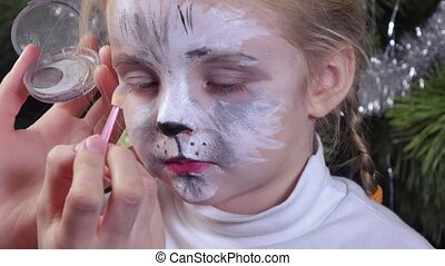 Baby girl paint shade - Painted in image of cat girl paints...