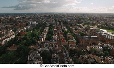 Aerial panoramic view of Amsterdam, Netherlands - Aerial...
