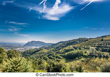 Ruins in the Ardeche - landscape photo: view to the ruins of...
