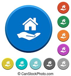 Home insurance beveled buttons