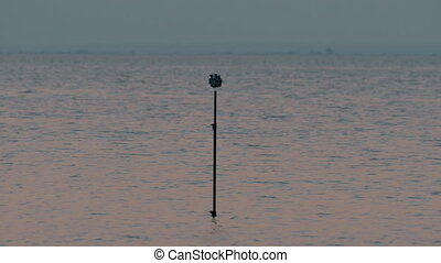 Tripod with cameras shooting 360 degree sea scene - Tripod...