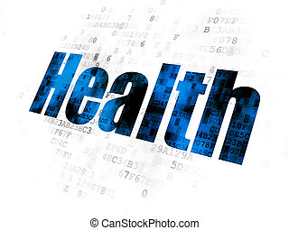 Medicine concept: Health on Digital background
