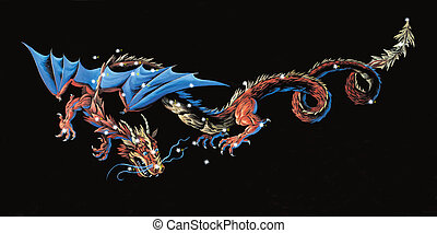 Constellation The Dragon (Draco)