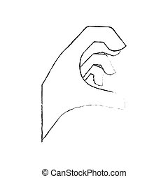 Hand sign symbol icon vector illustration graphic design